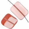 Glass Bead Bricks 20x15mm Rosaline - Strung